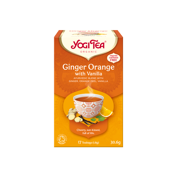 Herbata Yogi Tea Ginger Orange With Vanilla